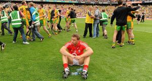 DOWN AND OUT: Dejected Cork forward Ciaran Sheehan reflects on what might have been at the end of the 2012 All-Ireland SFC semi-final. Picture: Oliver McVeigh/SPORTSFILE