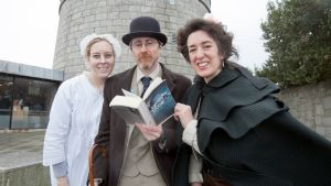 Maite Lopez, James Moore and Jessica Peel-Yates, members of The Bloomsday Survival Kit team. Picture: Gareth Chaney/Collins