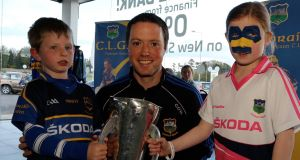 STARS IN THEIR EYES: At the Tipperary GAA meet and greet session last night in the Ryan Motors Skoda dealers in Clonmel was Conor O&#39;Brien (centre) with fans, Rory Whelan (5) and Alanagh Blackwell (8) from Carrick On Suir.  Picture: Mary Browne