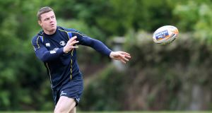 Brian O'Driscoll: The recovering centre missed Leinster's games against Ulster this year. Picture: INPHO