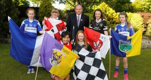 GAA president Liam O'Neill at the launch of Féile Na nGael 2013 in Limerick yesterday. Picture: Don Moloney/Press 22