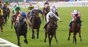 Judgethemoment winning the Ascot Stakes at the Royal meeting in 2009 before the horse put its best days behind it