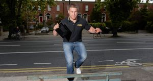 BALANCING ACT: Sean O'Brien at the launch of the Street Rugby mobile phone game. Picture: Sportsfile