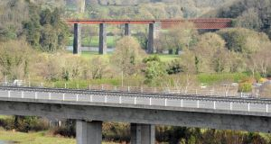 The Fermoy bypass bridge over the river Blackwater, with the viaduct bridge used in The Blue Max visible in the background. Picture: Eddie O'Hare