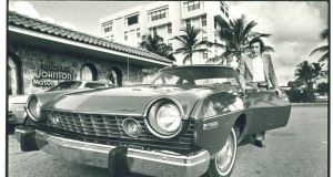 John with his Pontiac in Palm Beach 1975