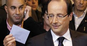 Francois Hollande (right)
