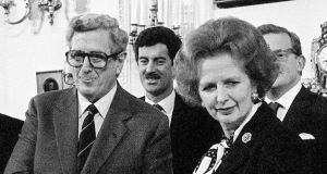 Garret Fitzgerald and Margaret Thatcher pictured in 1985