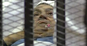Mubarak during his court appearance