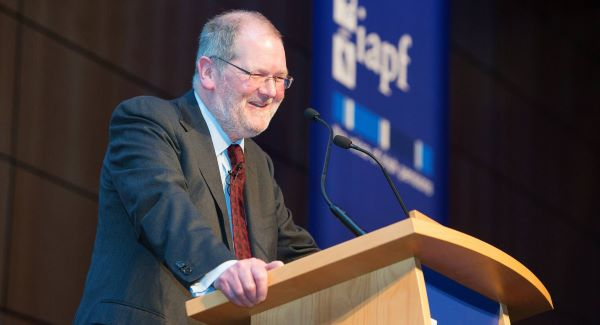 John Corrigan addresses the Irish Association of Pension Funds&#39; annual investment conference in Dublin this week.   Picture: Mark Harrison