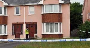 The house in Langford Downs where the bodies were discovered on Sunday night. Picture: Dan Linehan