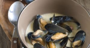 Mussels in Miso Broth