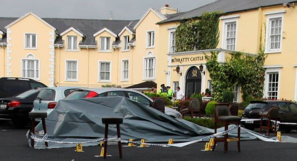 The scene of this morning's shooting at Bunratty Castle Hotel, in Clare. Picture: Brian Arthur/ Press 22.