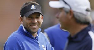 Sergio Garcia, pictured, and George O'Grady have both issued apologies.