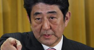Shinzo Abe. Picture: AP