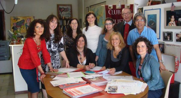 Staff at the Romeo and Juliet office in Verona