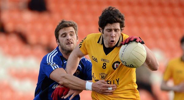 Sean Cavanagh, Ulster, in action against Eoin Cadogan, Munster. Picture: SPORTSFILE