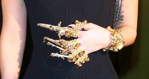 Lady Gaga sporting elaborate nail designs in London last year