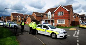 Police close a road in Saxilby, Lincolnshire leading to a house raided in connection with the Woolwich attack. Picture: Rui Vieira/PA